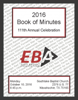 2016 Book of Minutes